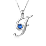 Women Jewelry 925 Sterling Silver AAA Zircon CZ Charming Letter F Necklace
