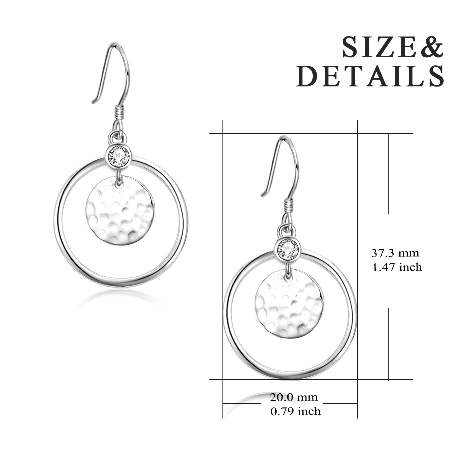 Fashionable jewelry Asperous Round Disc Drop Earrings for Women Party Accessories
