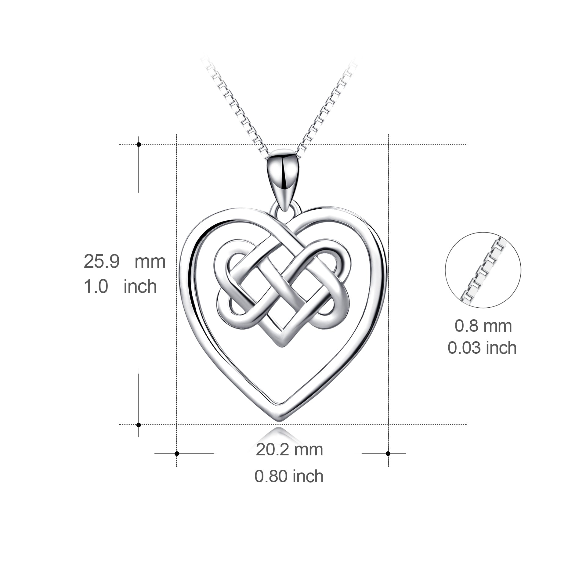 China Factory necklace wholesale small sterling wire love heart pendant necklace