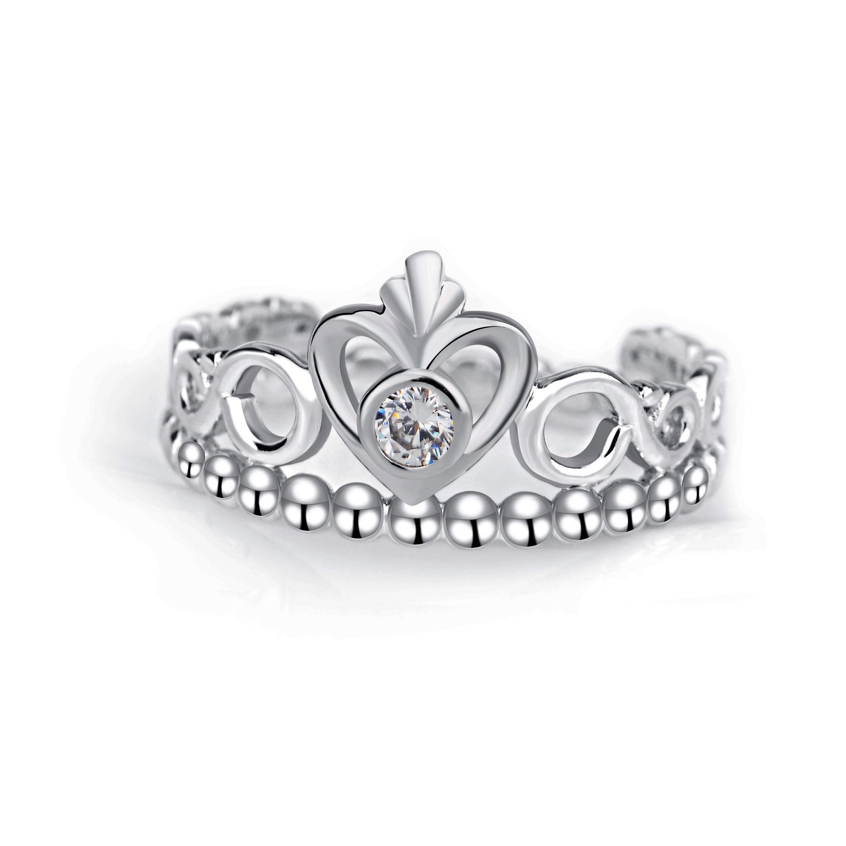 Crown Ring Fashion Jewelry Design Engagement S925 Silver Ring