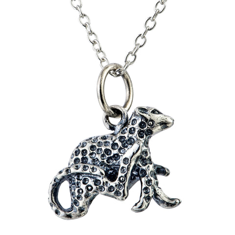 Leopard running fast necklace vintage male birthday jewelry design