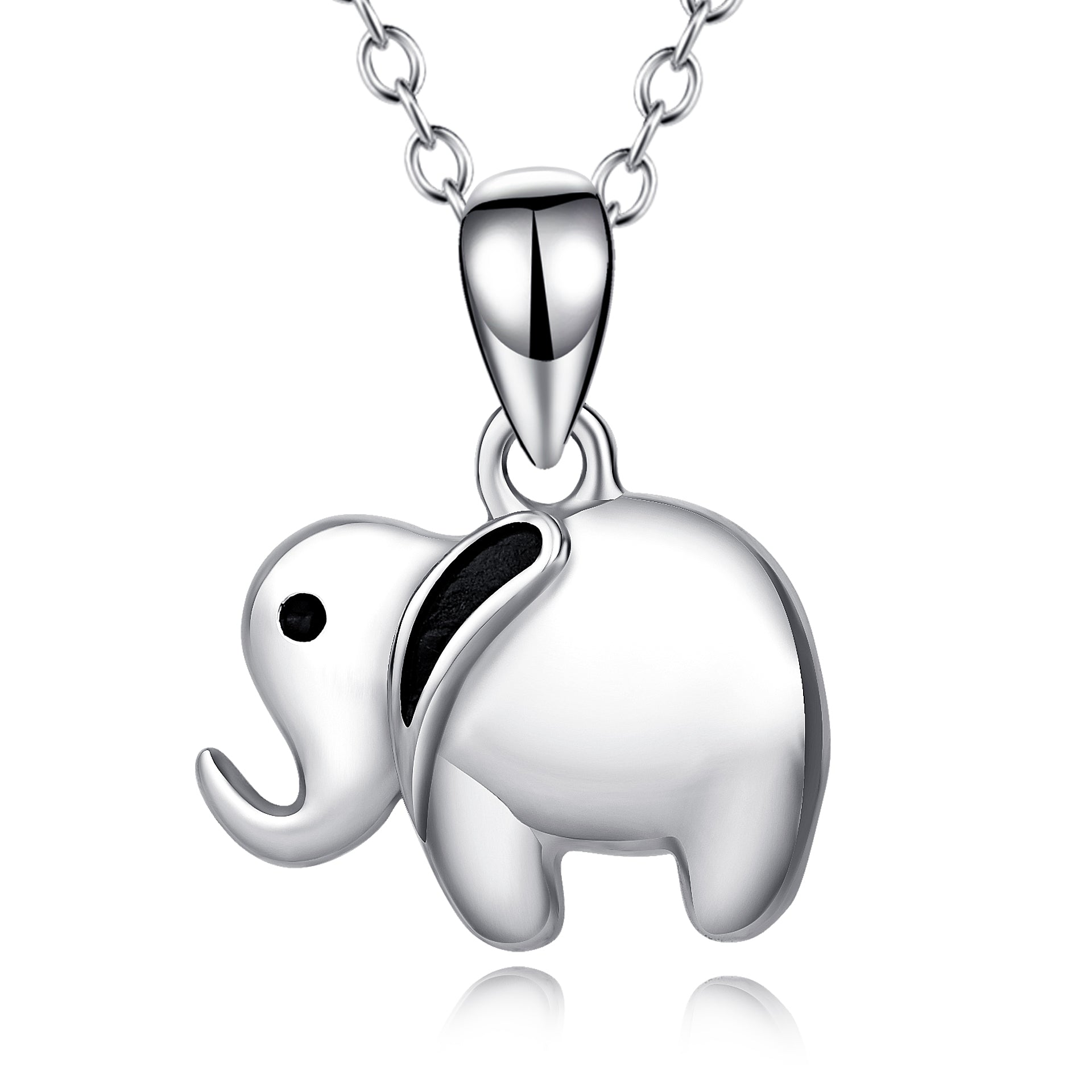 Cute Animal Jewelry Silver Design Elephant Chain Necklace Wholesale