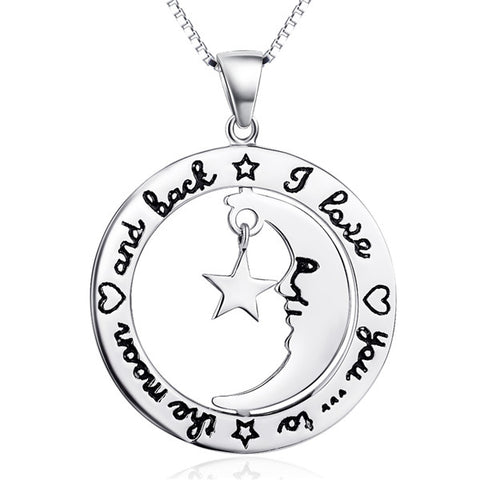 Fairy tale girl necklace silver wholesale moon star necklace design