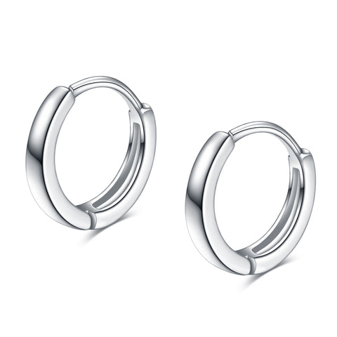 Plain Huggie Earrings 925 Sterling Silver Fashion Hoop Earrings