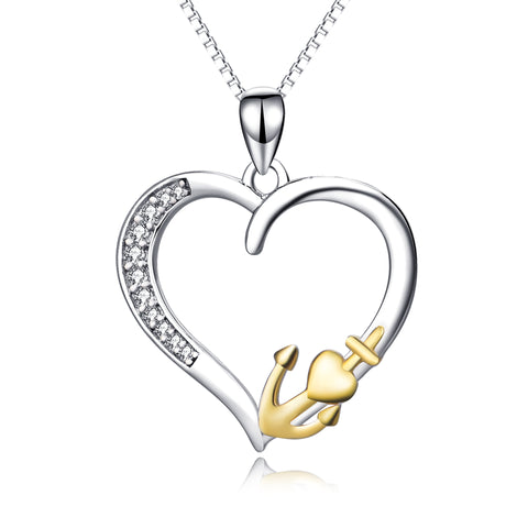 New Products Tiny Simple Single Heart Necklace Fashion Gift Jewelry