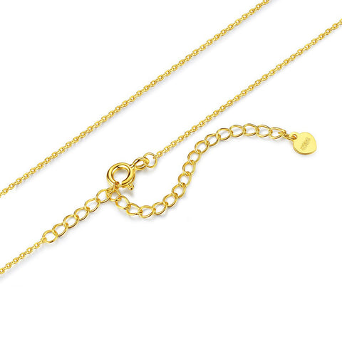 necklace Cable Chain 18k gold and white gold plated simple fashion necklace