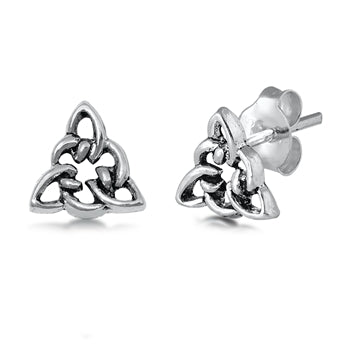 Silver Celtic Knot Stud Earrings