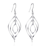 Twisted Drop Earrings Silver Wire Line Twisted S 925 Stamped Earrings