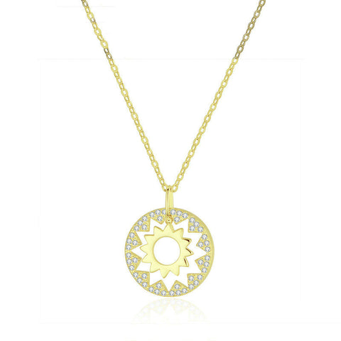Gold Color Pendant Necklaces for Women Chain Necklace 925 Sterling Silver Fashion Style Jewelry