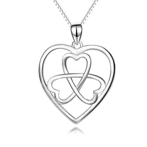 Heart Knot Necklace Hollow Wholesale Sister Silver Jewelry Necklace