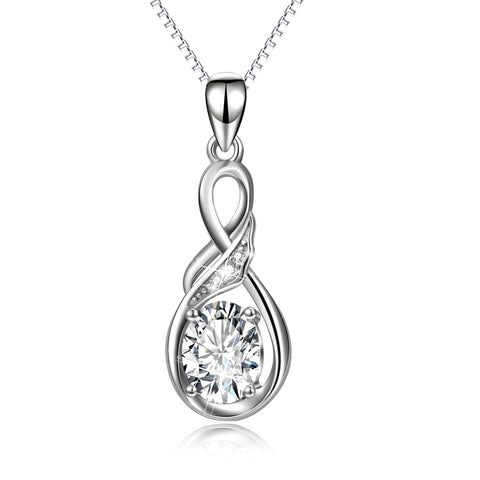 Fashion Chain Jewelries Zirconia Necklace Women Pendants Charm Necklace