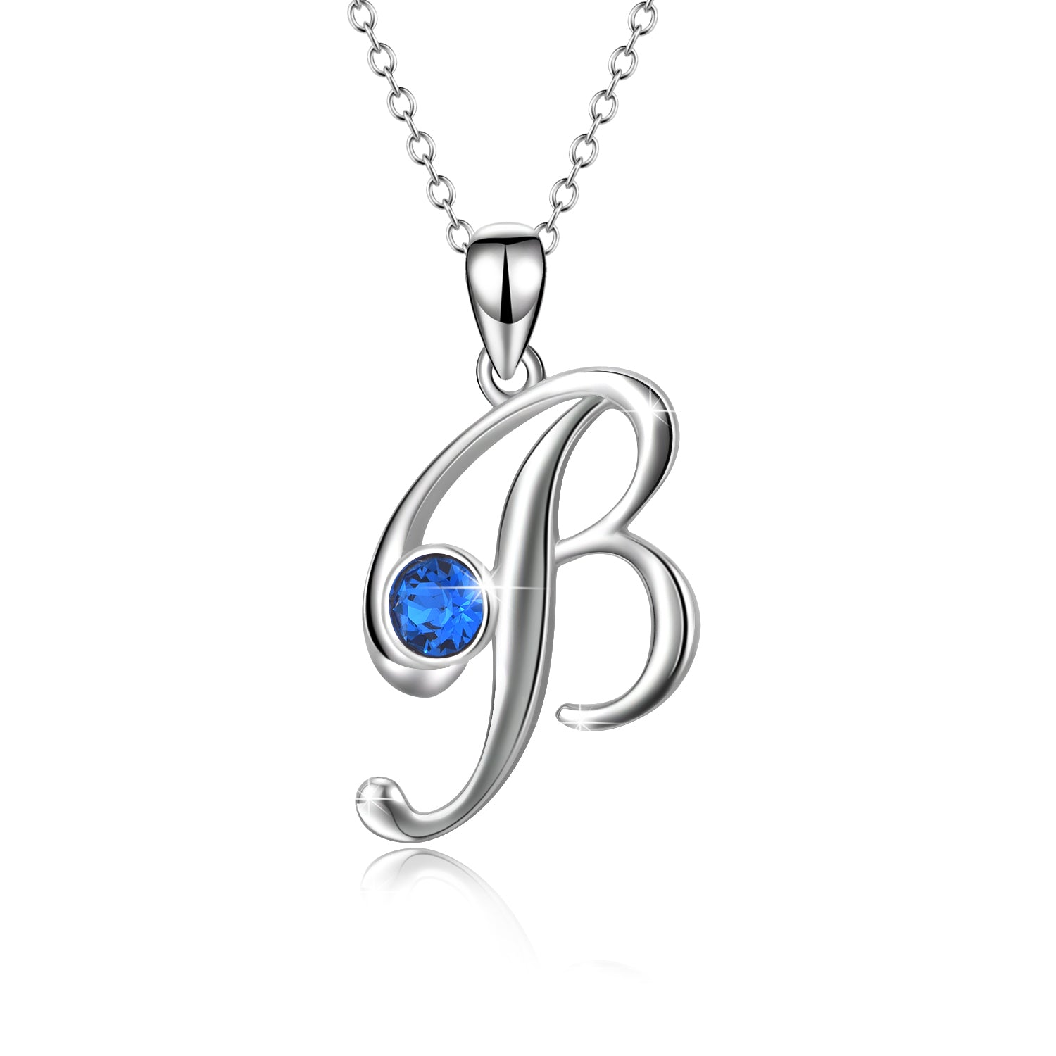 High Polished 925 Sterling Silver Necklace Custom Letter