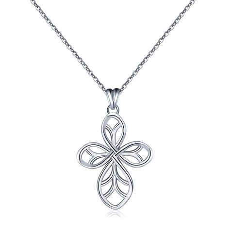 Four-leaf clover Celtic knot S925 sterling silver necklace pendant European and American creative accessories