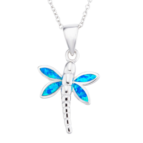 dragonfly opal animal necklace women trendy temperament necklace
