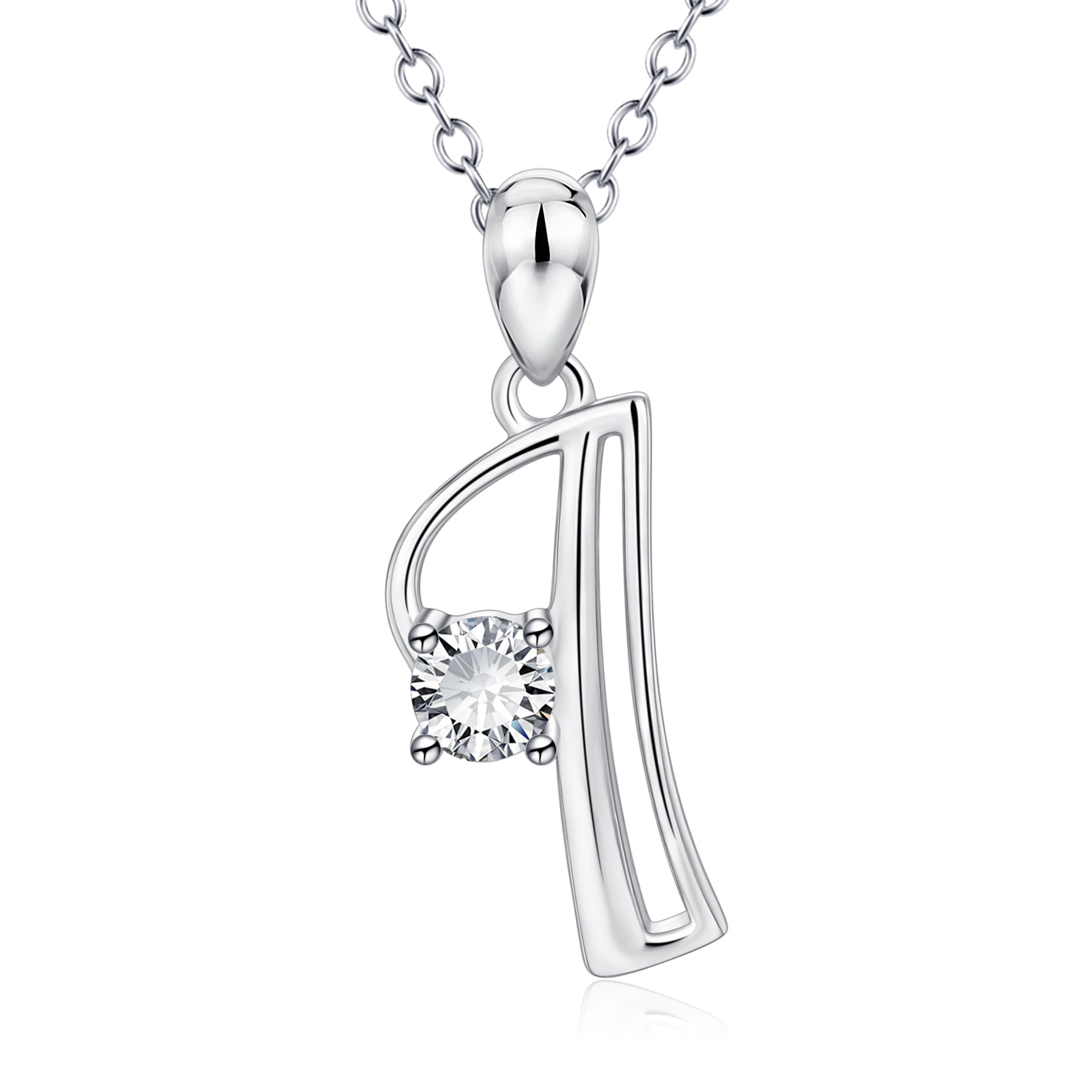 Wedding alphabet Pendant necklace 925 sterling silver jewelry