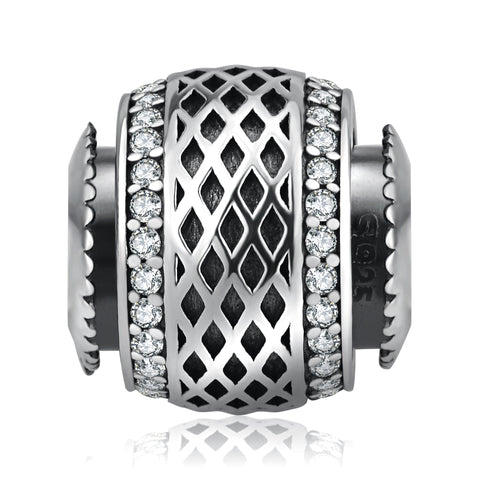 Diamond-shaped Beads Hollowed-Out Design Bracelet Beads for Men