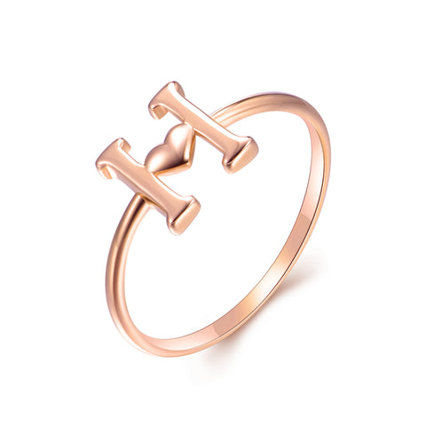 18K Gold Fashion Creative Letter Ring