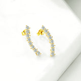 New Design Custom Earring Style Ladies Wholesale Gold Plating Stud Earrings