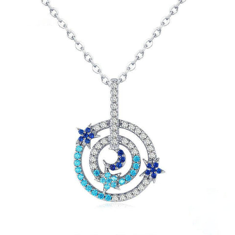 Planet Visitor & Round Circle Shape Chain Pendant Necklaces