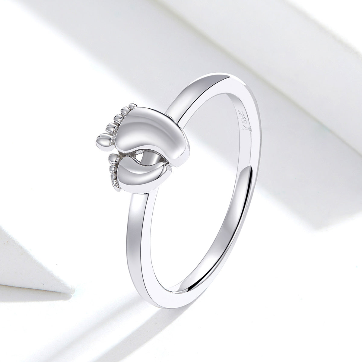 S925 sterling silver foot ring white gold plated ring