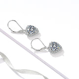 High Quality Women Love Heart Formal Earrings Dangle Drop  Love Heart Earrings