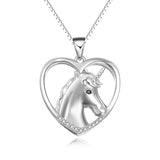 Heart Shaped Unicorn Necklace Unique Chain Necklace