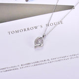 Dancing Stone Necklace Accent Heart Shape Mother Pendant Necklace