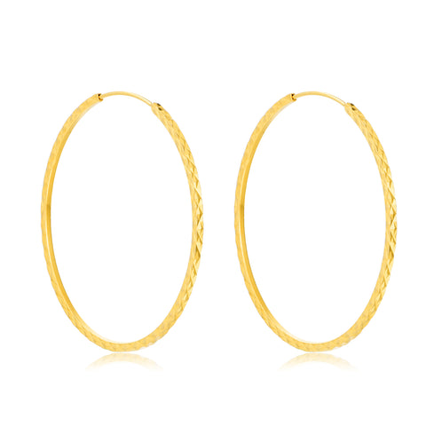 18K Gold European And American Fashion Personality Earrings Large Hoop Earrings
