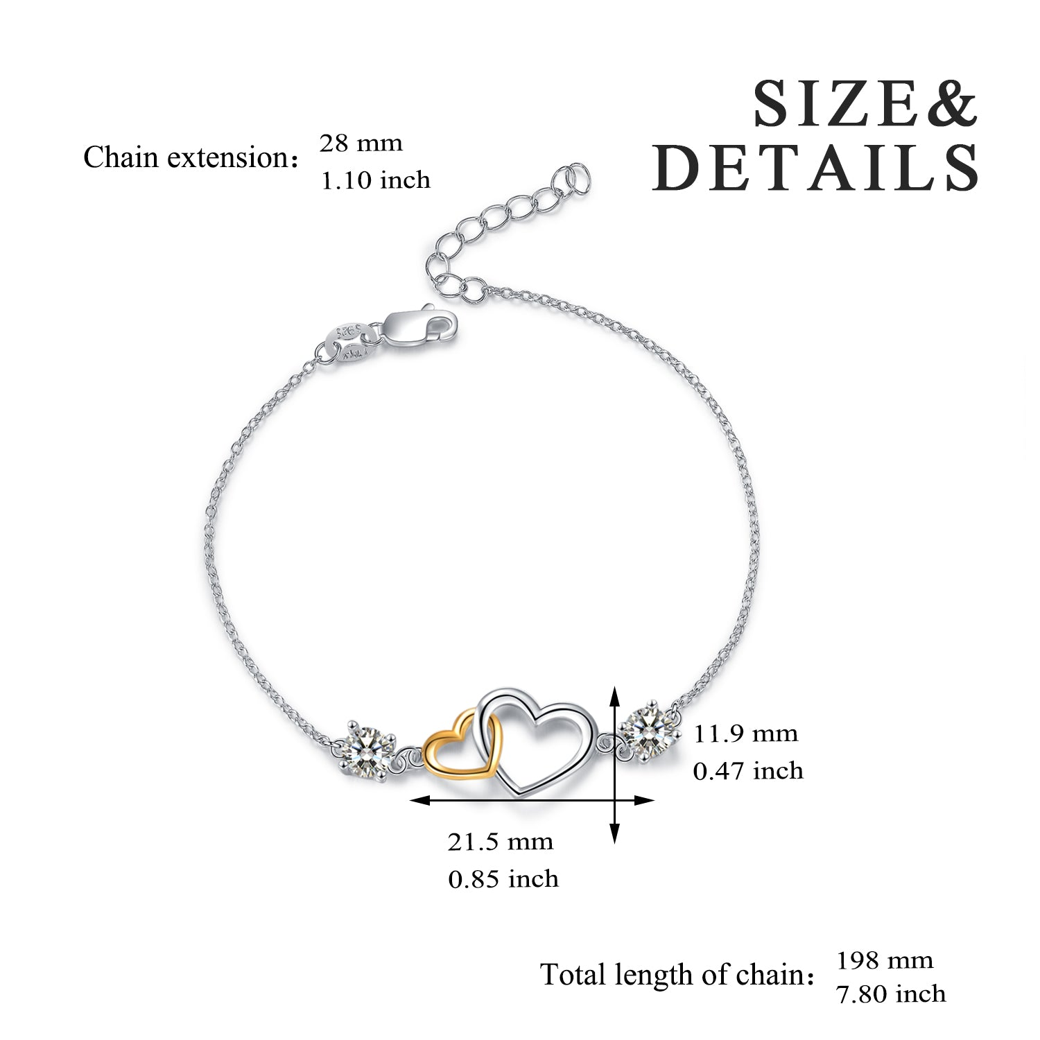 Different Color Plating Color Linked Bracelet Popular American Jewelry Bracelet