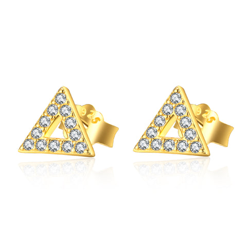 Fashion Jewelry Manufacturer Geometric Triangle Gold Color Earrings Designs