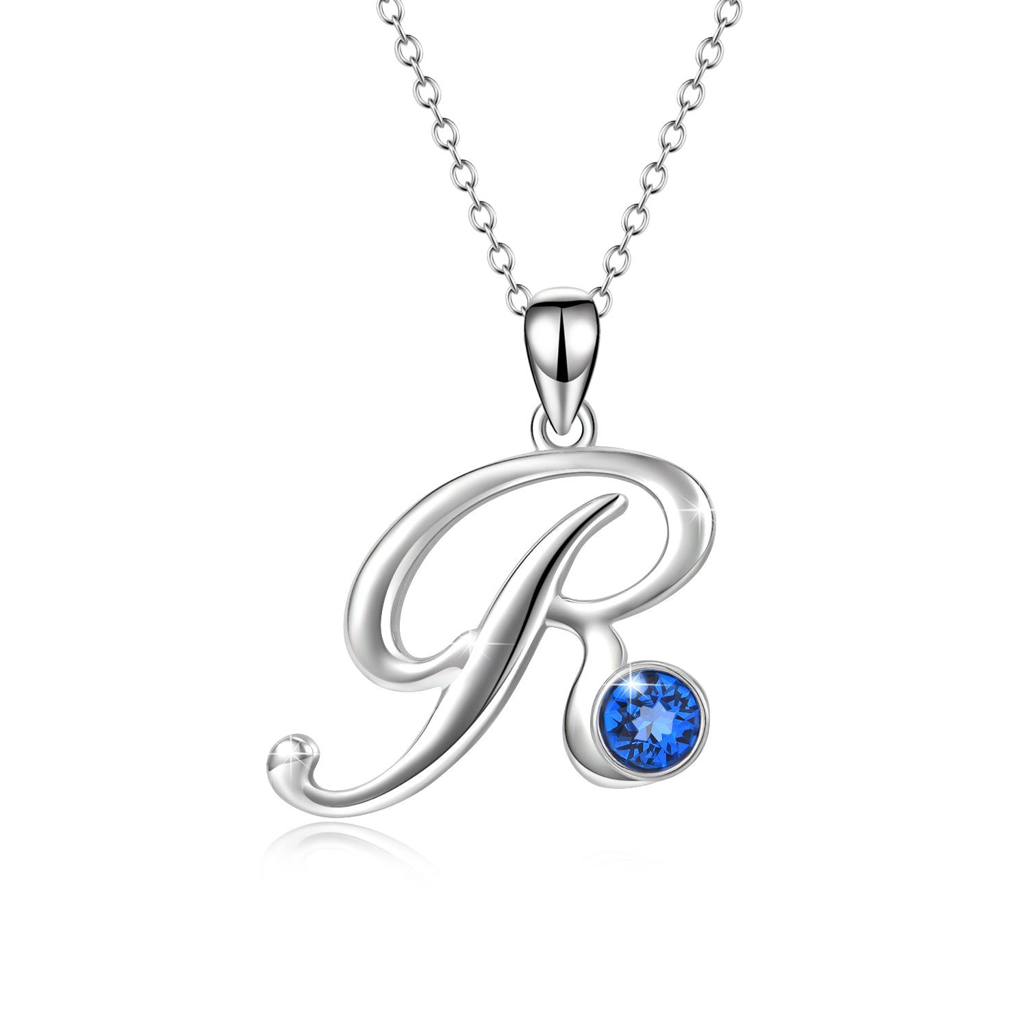Jewelry Factory Direct Sale Fashion Blue Color Zirconia Stone Pendant R Necklaces
