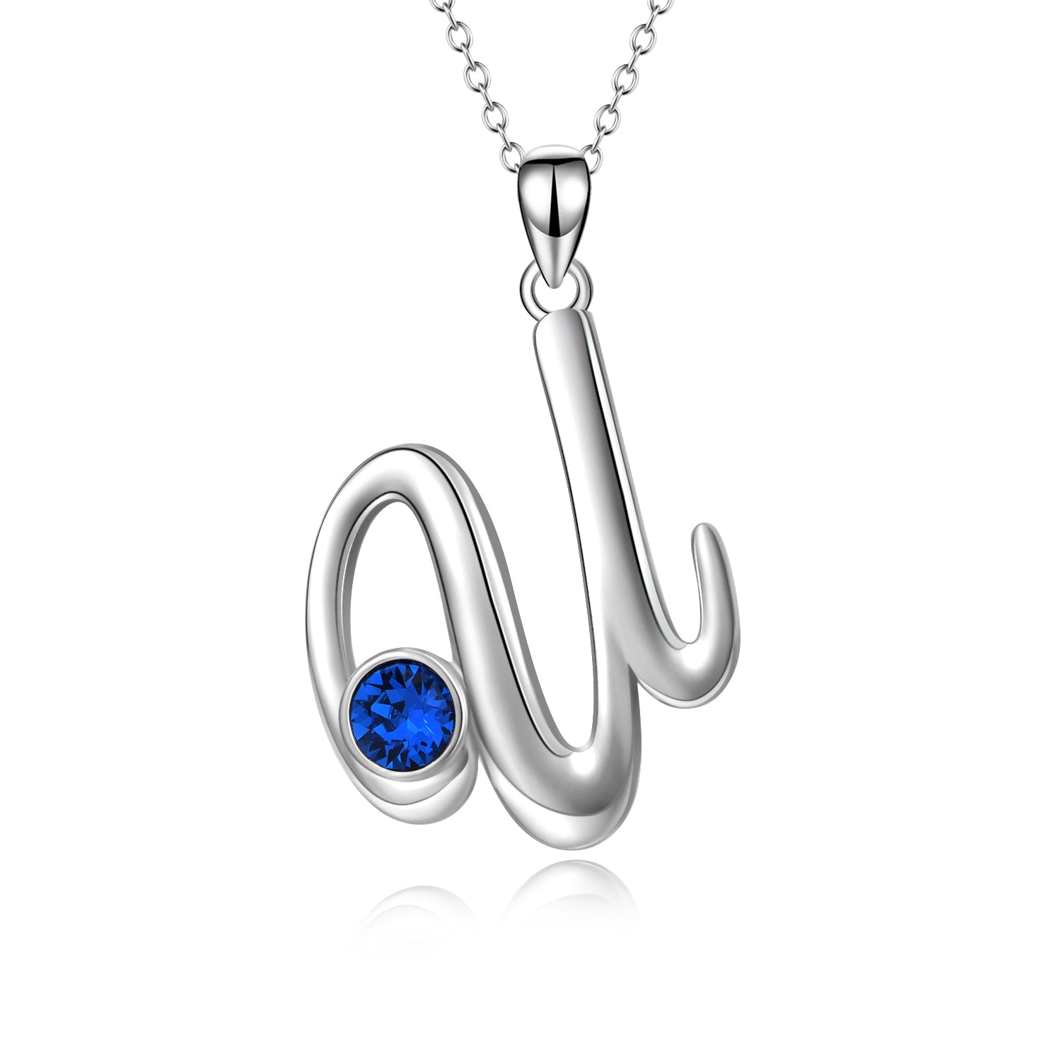 Latest Design Hot Selling Real Silver Pendant U Necklace Jewelry