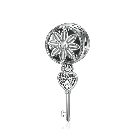 Lucky Key beads s S925 Sterling Silver Beaded Bracelet Bead Necklace Pendant Jewelry Accessories