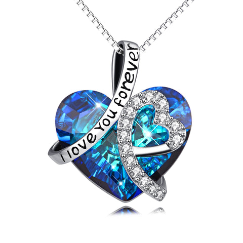 Crystal Heart Pendant Necklace Women Jewelry Necklaces Charms Gift Girl Personality Necklaces