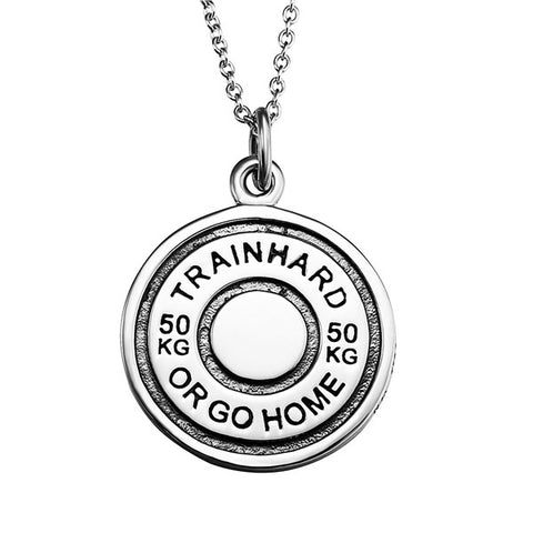 Train hard or go home engraved necklace design chain necklace