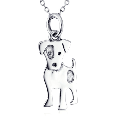 Cute Animal Dog Shaped Neckalce Factory 925 Sterling Silver Jewelry For Gifts
