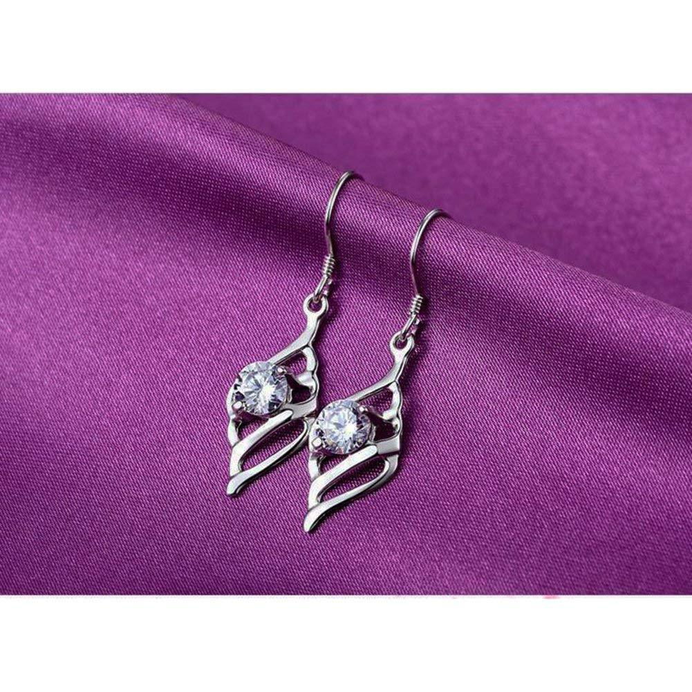 S925 Sterling Silver Fashion Personality Micro-Encrusted Korean Pendant Jewelry Earrings Cross-Border Exclusive