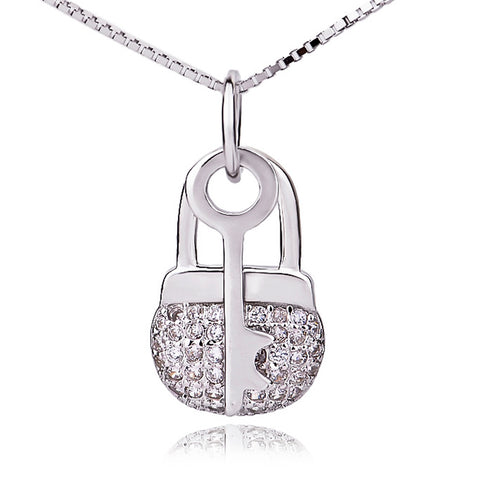 Key Lock Shape Pendant 925 Sterling Silver Wholesale Accessories