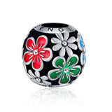 Poetic Blooms Charm Color Flower Bracelet Accessory Jewelry Silver