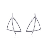 Geometric Earrings Triangle Jewelry Little Drop Shipping Silver Earrings