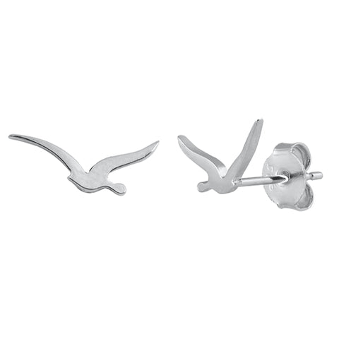 Silver  Seagull Stud Earrings