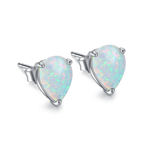 Wholesale 925 Sterling Silver Earring Opal Stud Earring for Lady Jewelry