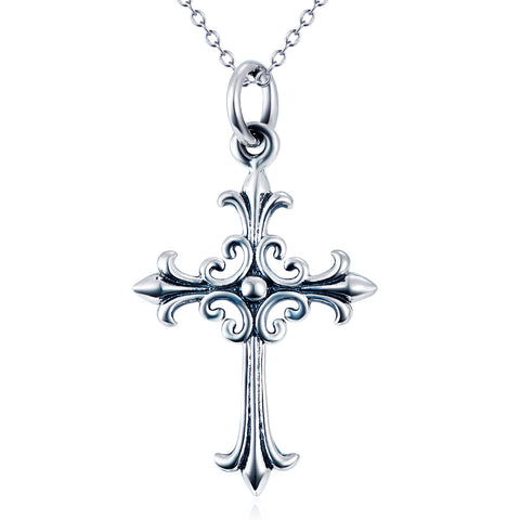 Religious Cross Necklace Wholesale 925 Sterling Silver Necklace
