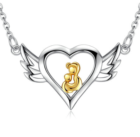 Angel Mother Pendant Necklace