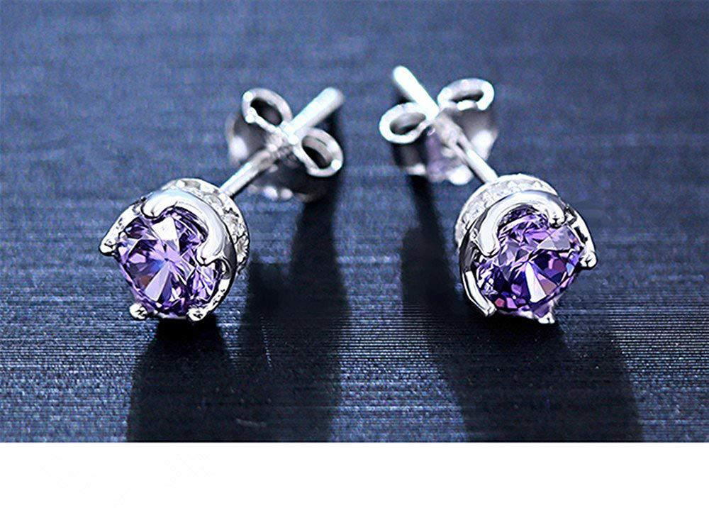 S925 Sterling Silver Korean Fashion Crown Earrings Jewelry Hypoallergenic