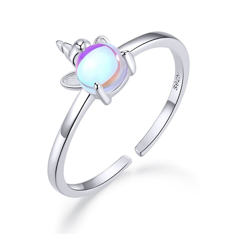 moonstone unicorn opening ring