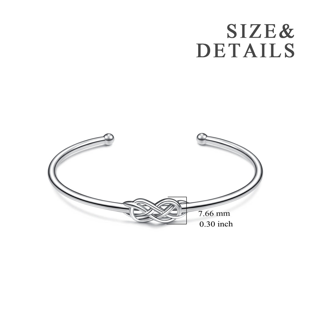 Celtic Knot Cuff Bracelet Bangle Opening Silver Women Bangle Wholesale