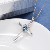 Crystal Cross Necklace Cool Girl Summer Traveling Jewelry Necklace