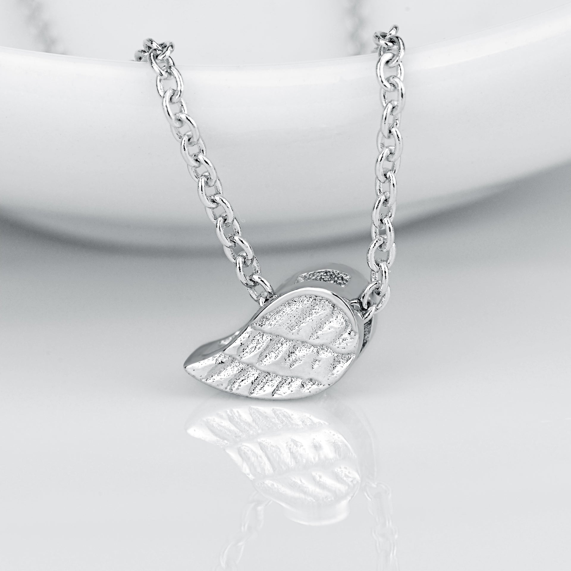 Little Wings Necklace 18 Inch Cable Chain Silver Pendant Necklace