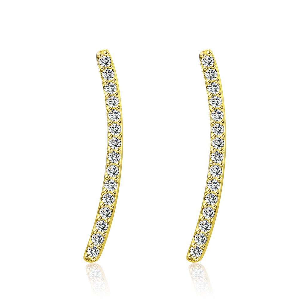Fashion Latest Jewelry Designs Classic Elegant Cubic Zirconia Shining Earrings